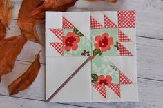 Threadbare Creations- Free Autumn Leaf Block Pattern (4 sizes)