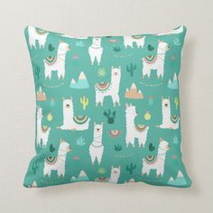 Shop Llama and Cactus Patterned in Green Throw Pillow created by decorateddaydreams. Personalize it with photos & text or purchase as is! Green Throw Pillows, Diy Pillows, Sofa Pillows, Custom Pillows, Decorative Pillows, Llama Christmas, Cute Llama, Pillow Quotes, White Elephant Gifts