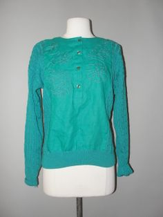 Amazing Greens, Vintage Clothing Stores, Cute Sweaters, Vintage Outfits, Blouse, Long Sleeve, Sleeves, Clothes, Tops