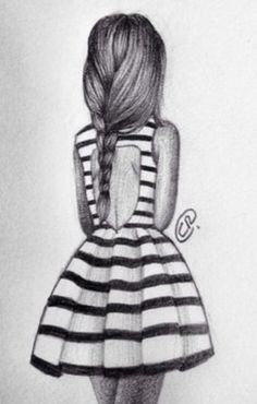 I think I am kind of obsessed with drawing people backs and braids lol.