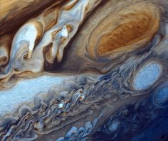 Jupiter's Great Red Spot as Viewed by Voyager 1 in February, The Great Red Spot is an anticyclone, three and a half times the size of Earth located in Jupiter's southern hemisphere. by NASA on The Commons Sistema Solar, Jupiter Red Spot, Great Red Spot, Nasa Images, Image Processing, Space Photos, Mode Shop, Space And Astronomy, Our Solar System