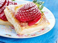 Nopeasti valmistuvat mansikkaviinerit sopivat kesäiseen kahvipöytään. http://www.yhteishyva.fi/ruoka-ja-reseptit/reseptit/nopeat-mansikkaviinerit/014146