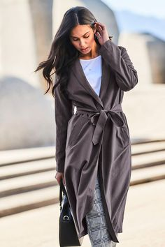 Urban Soft Feel Trench Coat at EziBuy Australia. Buy women's, men's and kids fashion online. Kids Fashion, Fashion Outfits, Fashion Trends, Fashion Ideas, Trenchcoat Style, Model Pictures, Online Clothing Stores, European Fashion, Mantel
