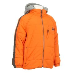 Puffer with Fleece Hood (12-24m)