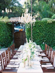 Elegant garden wedding tablescape: http://www.stylemepretty.com/california-weddings/santa-barbara/2016/02/24/al-fresco-santa-barbara-garden-wedding/ | Photography: Michael + Anna Costa - http://michaelandannacosta.com/