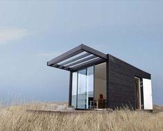 Lars Frank Nielsen du cabinet ONEN a conçu pour la société suédoise Add-A-Room,une petite maison modulaire très design. Cette petite maisonnette peut auss
