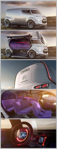 O futurista conceito da van Tubik da Citroën. Demais! #conceptcar
