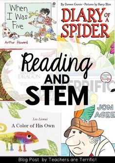 Reading and STEM together! Here's a blog post suggesting five picture and five STEM challenges you can complete today!