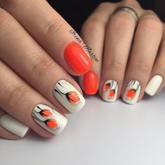 See the differences between these popular nail shapes, and feel confident when a manicurist asks how you'd like your nails filed. Round Nail Designs, Fingernail Designs, Nail Art Designs, Toe Nail Art, Easy Nail Art, Toe Nails, Stylish Nails, Trendy Nails, Nail Art Fleur