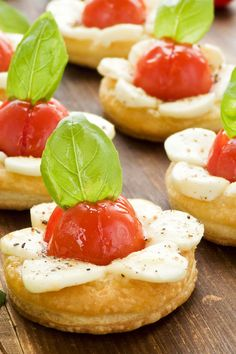 Caprese Tartlets Appetizer Recipe