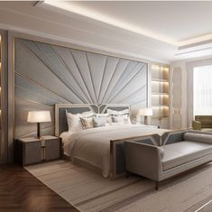37 Wonderful Luxury Bedroom Design Ideas You Will Love - If you've ever watched Lifestyles of the Rich and Famous, you are familiar with what luxury bedroom decor is. It is defined by it's beauty, material, . Modern Luxury Bedroom, Luxury Bedroom Design, Master Bedroom Interior, Modern Master Bedroom, Bedroom Furniture Design, Master Bedroom Design, Luxurious Bedrooms, Home Bedroom, Bedroom Decor