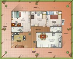 Planta de Casa Avarandada - Cód. 31   Só Projetos