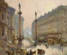 Colin Campbell Cooper PLACE DE LA OPERA, PARIS circa 1895-1900