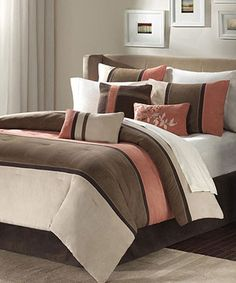Whether it's time to completely revamp the master bedroom or update a guestroom, this charming and cozy bedding set is sure to get the job done. The stylish design will warm up a room and is sure to be noticed by friends and family when getting the grand tour of a home. Includes comforter, two standard shams, three decorative pillows and bed skirtAvailable in multiple sizesMicro-suedeImported