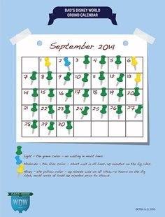 September Disney World Crowd Calendar