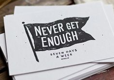 Seven Days A Week – Print Shoppe by Tobias Saul, via From up North