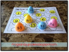 Use those plastic #Easter eggs for math activities!