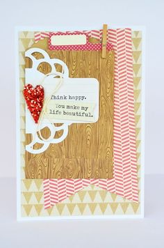 Think Happy card by Leanne Allinson featuring Jillibean Soup - Soup Staples III