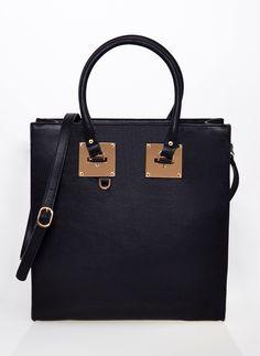 TOREBKA SOPHIE II GOLDEN DETAILS CZARNA I BAG TOTE LARGE BLACK I  MONASHE.PL - Sklep online z modną odzieżą. Bluzki, sukienki, torebki, obuwie, akcesoria.