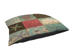 Thumbprintz Fleece Top Toy or Small Breed Pet Bed, Coastal 9 Patches, Multi Colored => Details can be found  : dog beds