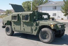 This is a Humvee built for Afghanistan with the added Armor Protection.