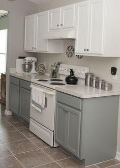 rustoleum grey kitchen   Two Tone Gray Kitchen Cabinets AunmbCnT Wallpaper