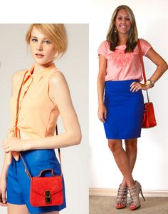 Love the cobalt. Not sure about the peach. Warm pastels make me look washed out.