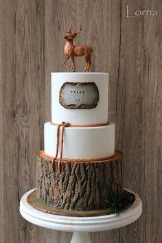 Torty od Lorny (Cakes by Lorna) Pretty Cakes, Cute Cakes, Beautiful Cakes, Amazing Cakes, Fondant Cakes, Cupcake Cakes, Hunting Birthday Cakes, Dad Cake, Woodland Cake