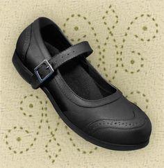 Aris Allen Black Wingtip Athletic Mary Jane Swing Dance Shoe