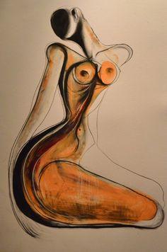 Juxtapoz Magazine - The Nude Drawings of Carmel Jenkin