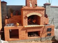 Outdoor Barbeque, Pizza Oven Outdoor, Outdoor Cooking, Brick Built Bbq, Brick Grill, Outdoor Kitchen Plans, Outdoor Kitchen Design, Paver Fire Pit, Diy Outdoor Fireplace