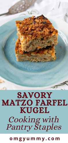 Savory matzo farfel kugel will be your new favorite Passover side dish. Perfect for your seder meal What Is Matzo, Great Desserts, Dessert Recipes, Potato Kugel, Seder Meal, Passover Recipes, Jewish Recipes, Matzo Meal, Cooking