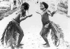 """The Bird Dance"" by men of Mentawai-islands, year unknown."
