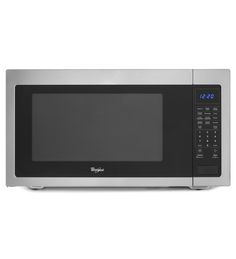 Whirlpool® 2.2 cu. ft. Countertop Microwave with Greater Capacity (WMC50522AS Black-on-Stainless) |