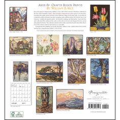 Arts & Crafts Block Prints 2014 Wall Calendar: 9780764964503 | | Calendars.com