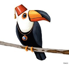 48 Ideas For Orange Tree Illustration Red Black And White Birds, Red Black, Toco Toucan, Cool Tree Houses, Tree Illustration, Illustrations, Cartoon Characters, South America, Concept Art