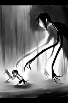 Pinning this here because of the Slender look. Can't tell if it's Sebastian and Ciel or Slender and soon to be dead child.