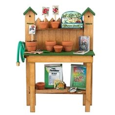 Complete Gardening Table Kit with Accessories  | Free Shipping over $225 @ miniatures.com