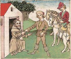 Antonius <von Pforr> Buch der Beispiele der alten Weisen — Oberschwaben, um 1475 Cod. Pal. germ. 466 Folio 217r