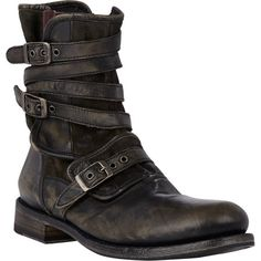 John Varvatos Engineer Triple-Buckle Boots at Barneys.com
