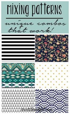 Mixing Patterns - 3 Unique Combos that Work - Dwell Beautiful