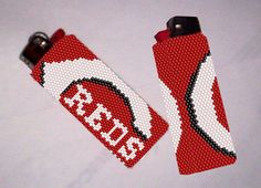 Looking for your next project? You're going to love Cincinnati Reds Lighter Cover Pattern by designer Debby in Clearwater. - via @Craftsy