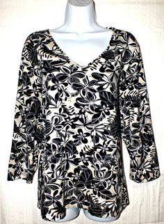 Apostrophe Casual Multi Color  Floral Women's Top Blouse Size 24W 26W #Apostrophe #Blouse #Casual