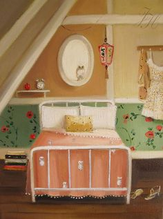 Snow Bedroom by Janet Hill