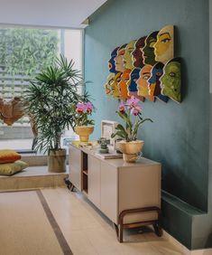Interior Design by Desiree Casoni (With images) Home Room Design, Decor Interior Design, Living Room Designs, Living Room Decor, Interior Decorating, Ethnic Home Decor, Indian Home Decor, Home Decor Furniture, Wall Design