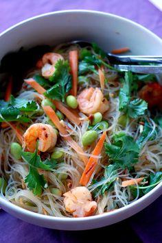Mung Bean Noodles Salad by thebountifulplate: Thanks to @Divya Silbermann (Bhaskaran) ! #Salad #Mung_Bean #Noodles