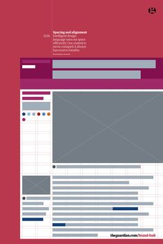 The Guardian brand guidelines #grafica #brand #editorial
