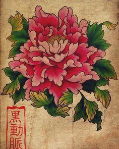 japanese tattoos for strength Japanese Flower Tattoo, Flower Tattoo Back, Japanese Tattoo Designs, Japanese Flowers, Flower Tattoo Designs, Japanese Tattoos, Peony Flower Tattoos, Rosa China, Clover Tattoos