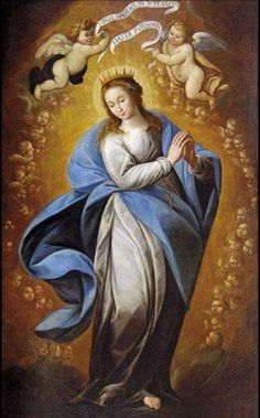 Carlo Francesco Nuvolone, The Immaculate Conception, 1635 Mother Of Christ, Mother Art, Blessed Mother Mary, Blessed Virgin Mary, Catholic Art, Catholic Saints, Religious Art, Madonna, Hail Holy Queen