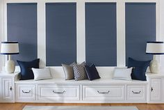 Browse our collection popular, trending, classic and contemporary custom cellular shades at Lowe's Custom Blinds & Shades Store Accent Wall Bedroom, Blue Bedroom, Trendy Bedroom, Bedroom Colors, Bedroom Windows, Living Room Windows, Room Darkening Shades, Top Down, Honeycomb Shades